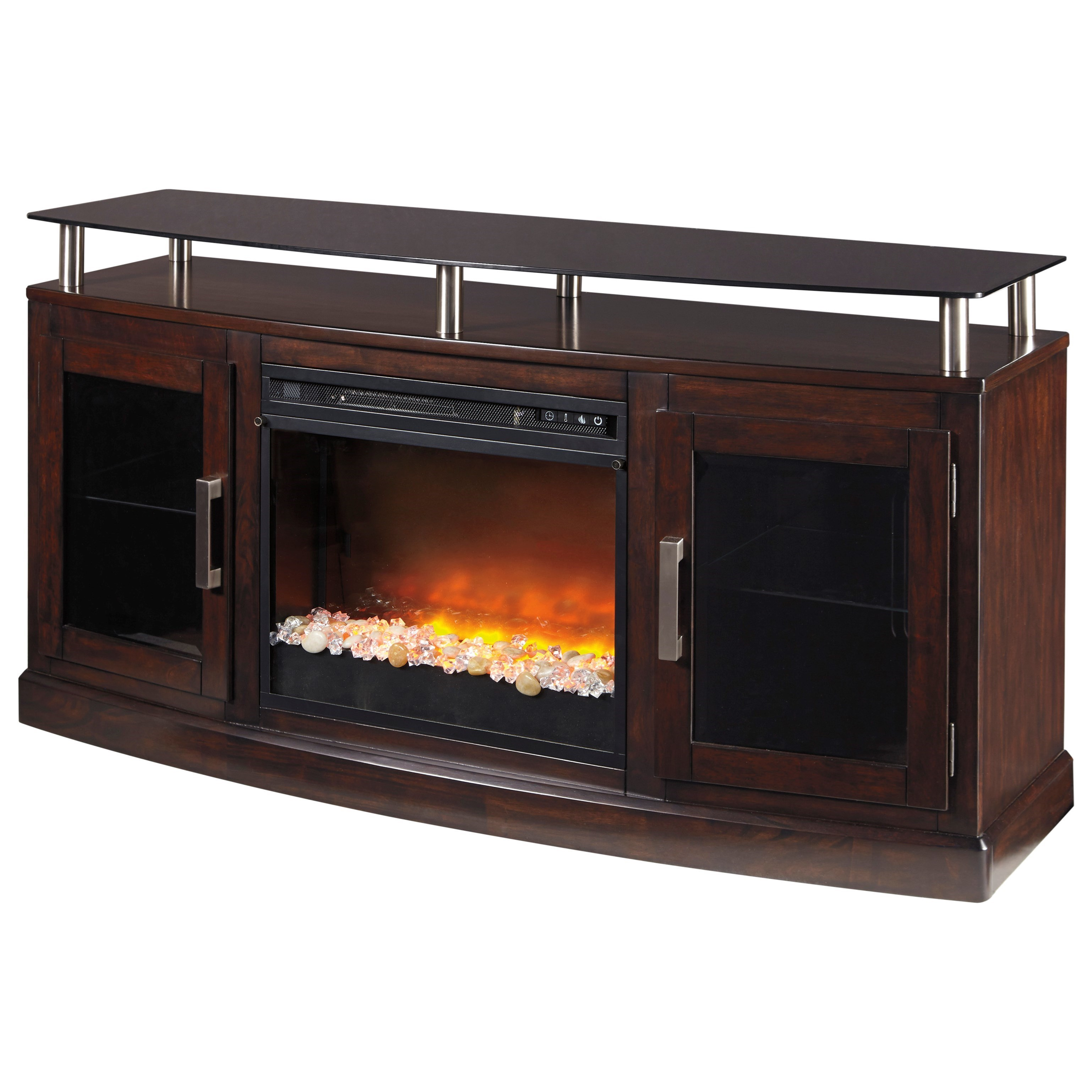 ashley signature design chanceen tv stand with fireplace insert rh dunkandbright com tv stand with fireplace cheap