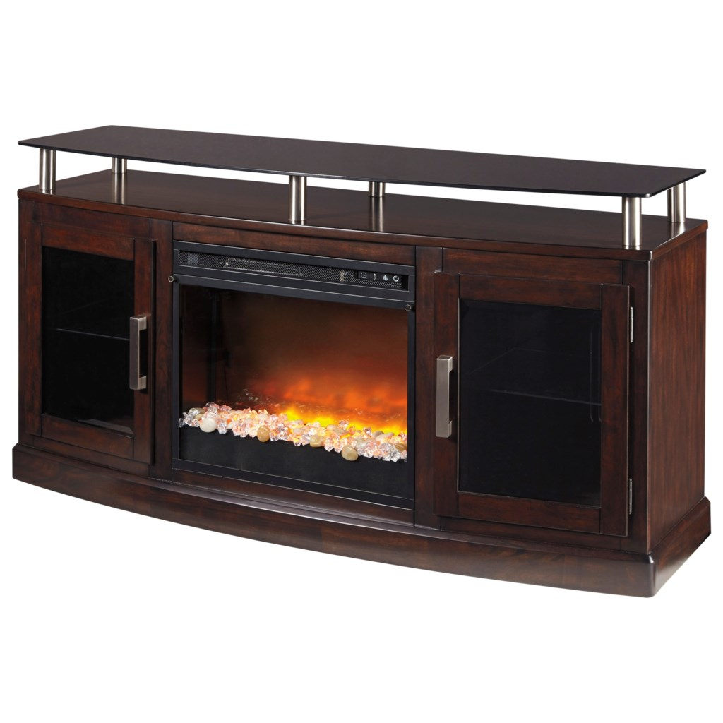 Ashley Signature Design Chanceen Tv Stand With Fireplace Insert