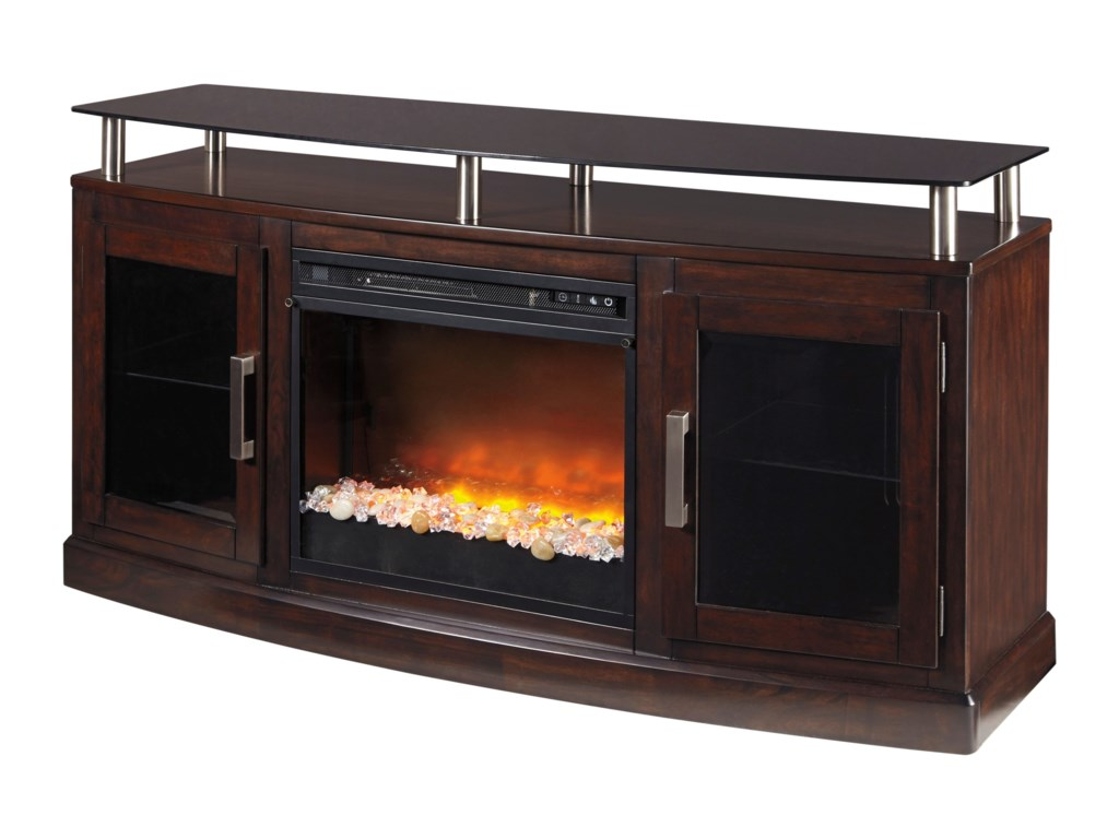 Signature Design by Ashley ChanceenMedium TV Stand with Fireplace Insert