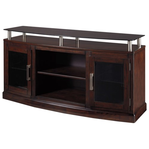 Signature Design By Ashley Chanceen Medium Tv Stand With Floating