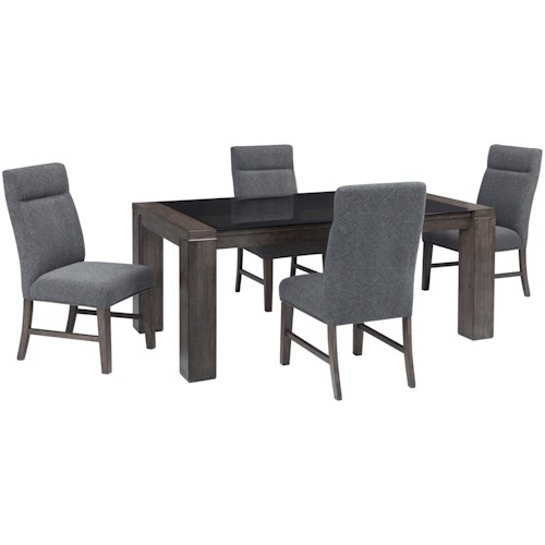 Signature Design by Ashley Chansey 5-Piece Rectangular Dining Table Set