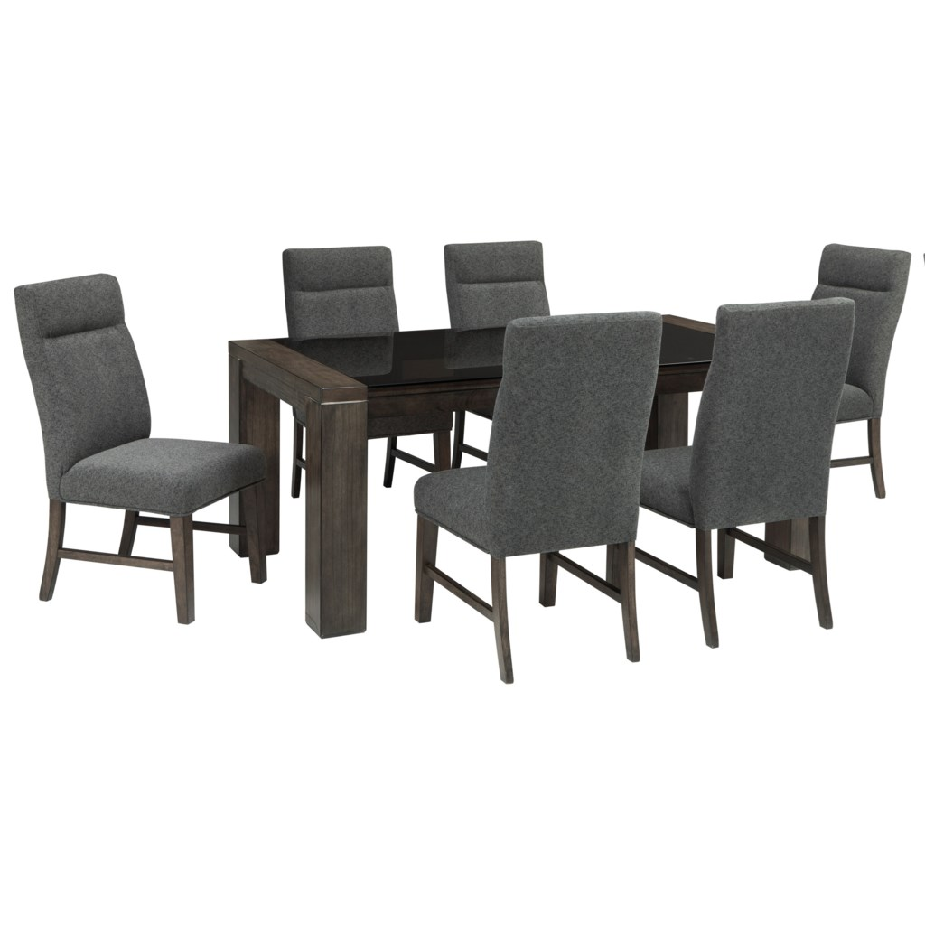 Signature Design By Ashley Chelsea 7 Piece Rectangular Dining Table