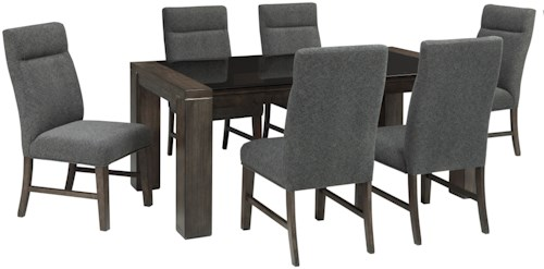 Signature Design By Ashley Chansey 7 Piece Rectangular Dining Table Set