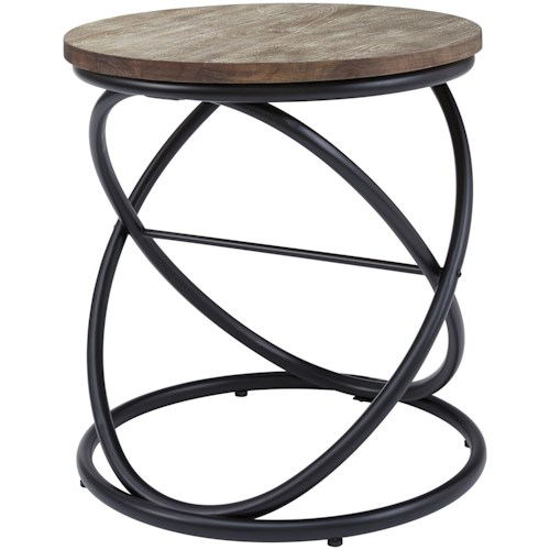 Signature Design by Ashley Charliburi Round End Table