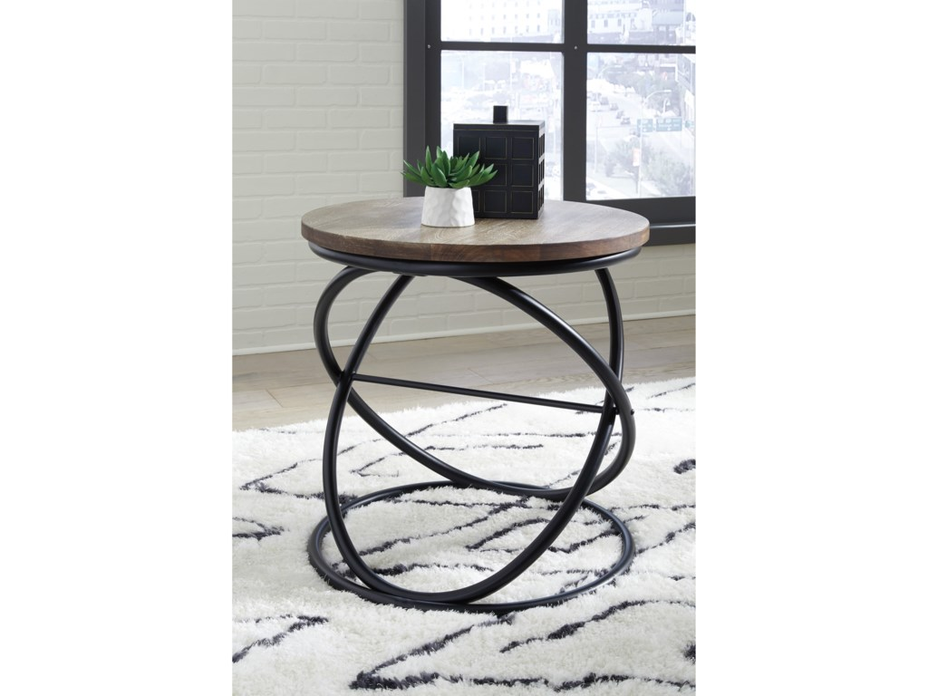 Signature Design by Ashley CharliburiRound End Table