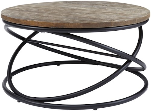 Signature Design by Ashley Charliburi Contemporary Round Cocktail Table