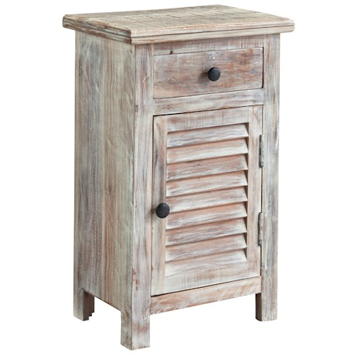 Signature Design by Ashley Charlowe Modern Rustic Door Night Stand