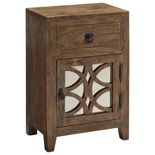 Signature Design by Ashley Charlowe Night Stand with Mirror Door