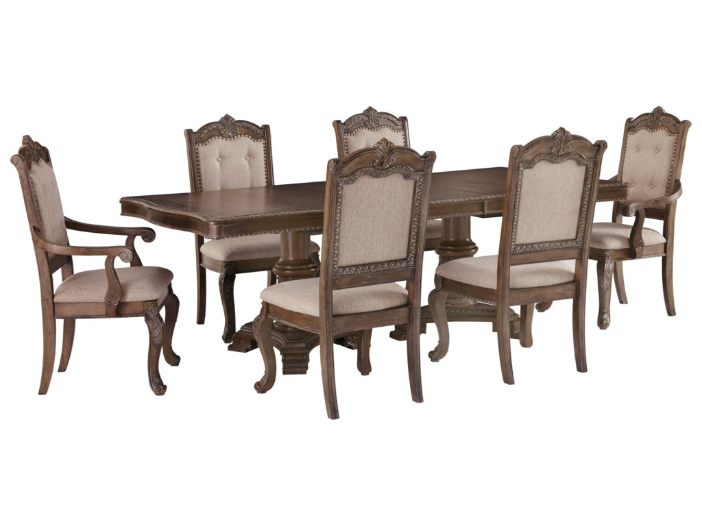 Signature Design by Ashley Charmond7-Piece Rectangular Extension Table Set