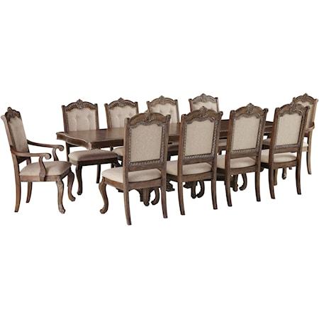 11-Piece Rectangular Extension Table Set