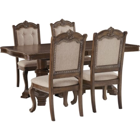 5-Piece Rectangular Extension Table Set