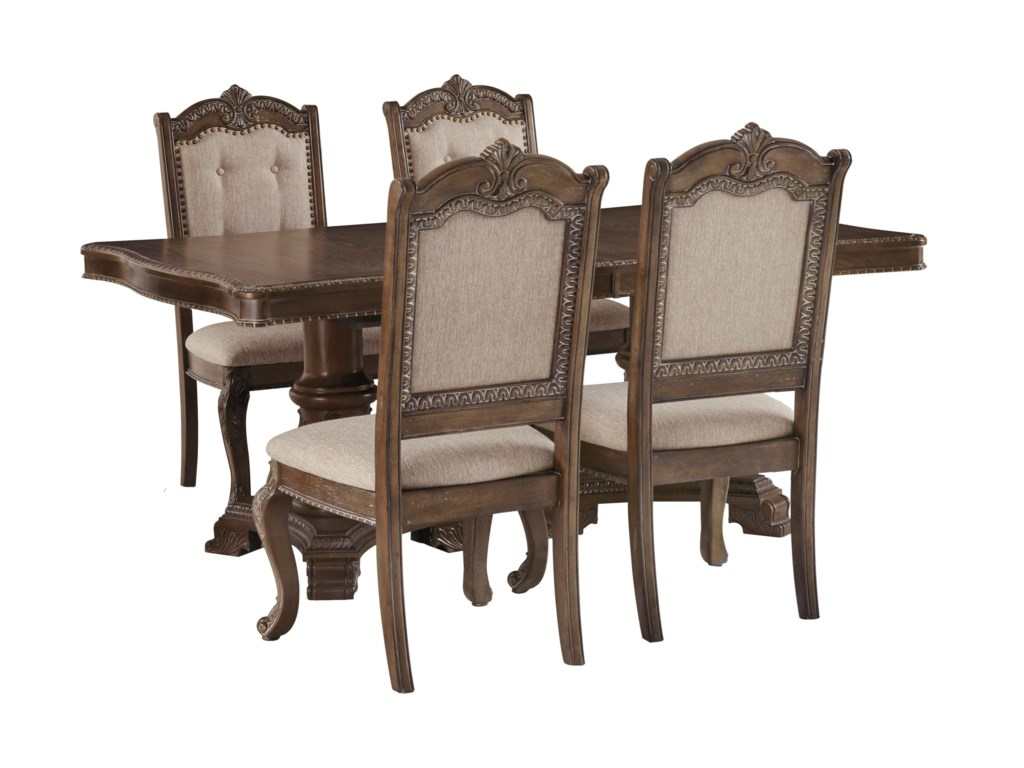 Signature Design by Ashley Charmond5-Piece Rectangular Extension Table Set