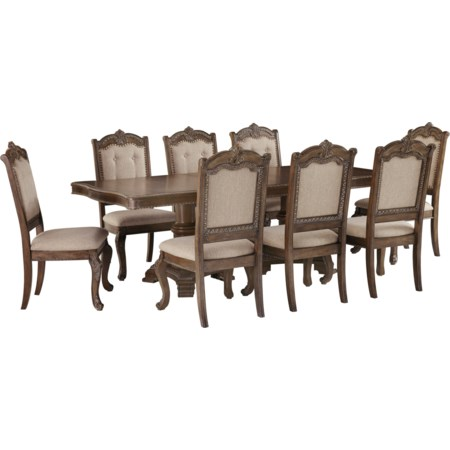 9-Piece Rectangular Extension Table Set