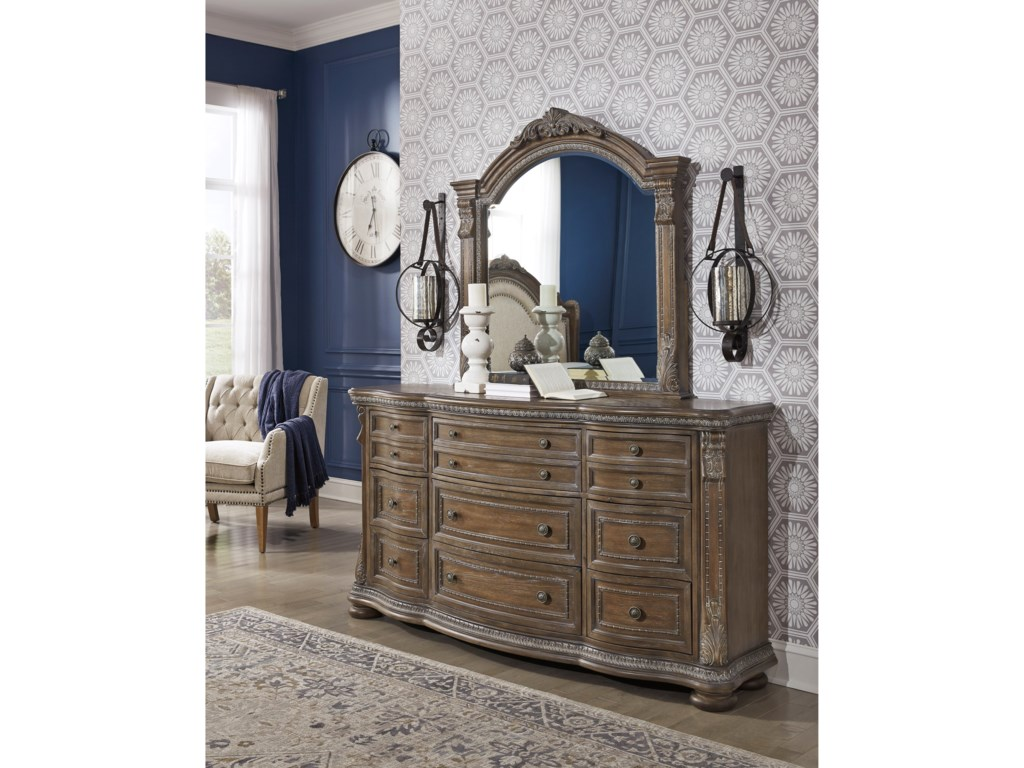 Signature Design by Ashley CharmondDresser and Mirror Set