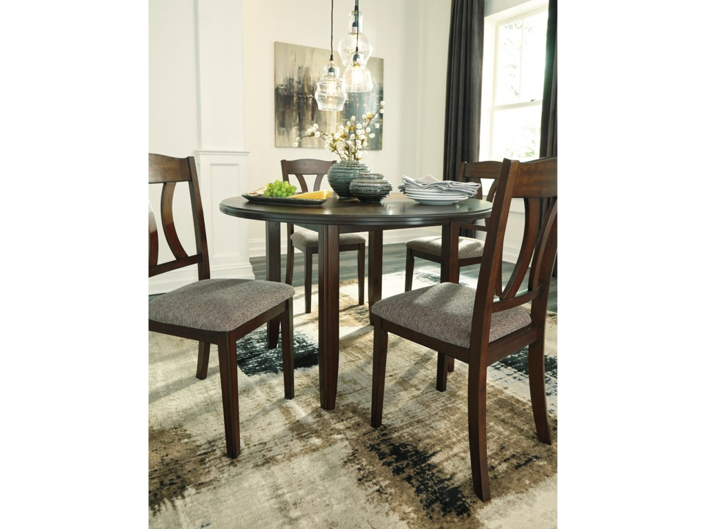 Signature Design by Ashley Charnalo5-Piece Round Dining Room Table Set