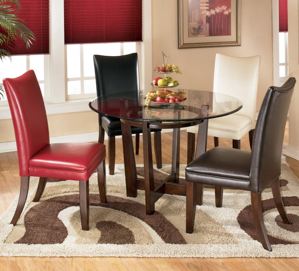 Signature Design By Ashley Dining 5 Piece Round Dining Table Set