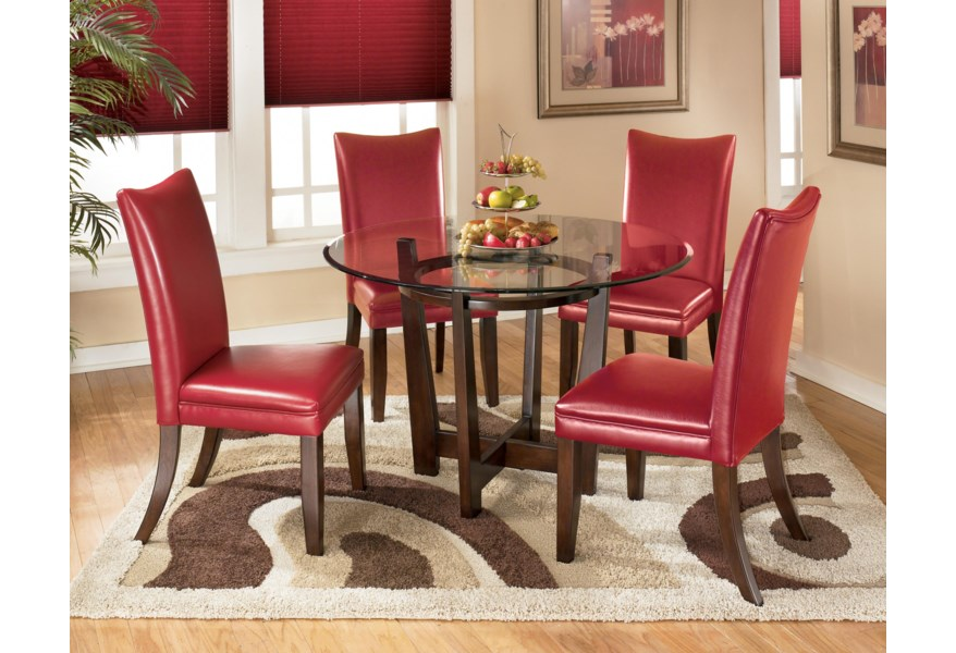Charrell 5 Piece Round Dining Table Set
