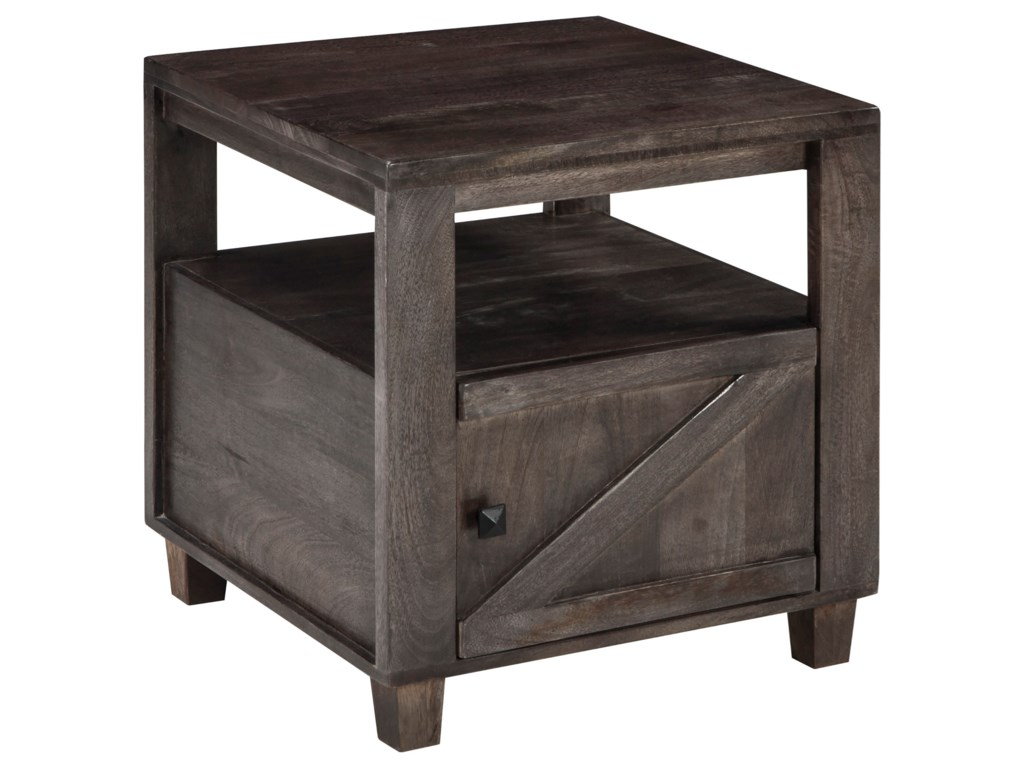 Chaseburg Rustic Square End Table By Signature Design Ashley At Household Furniture