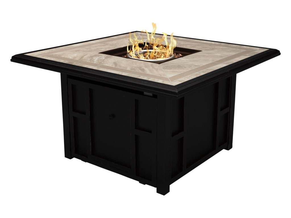 Signature Design by Ashley Chestnut RidgeSquare Fire Pit Table