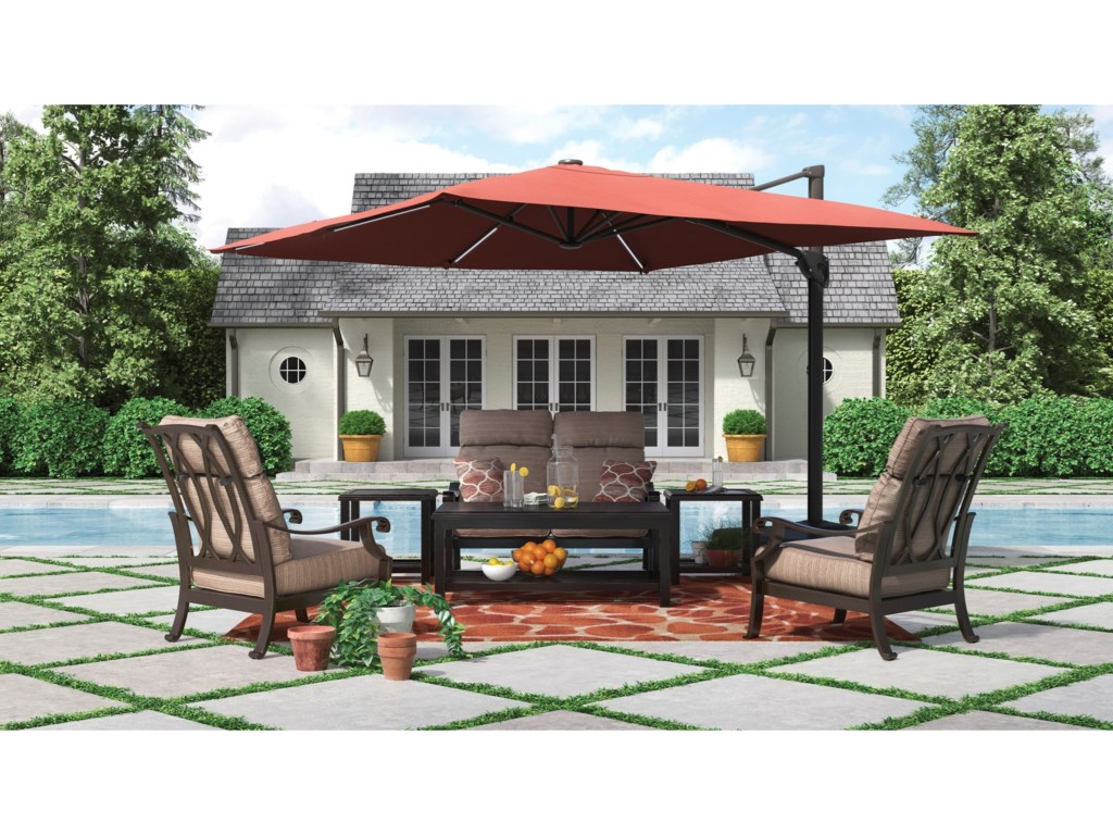 Signature Design by Ashley Chestnut RidgeOutdoor Conversation Set