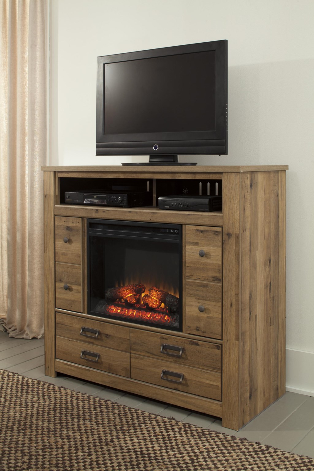 signature design by ashley cinrey contemporary media chest with