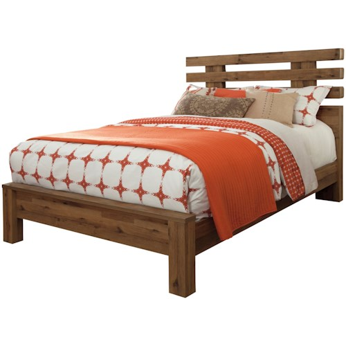 Signature Design by Ashley Cinrey Contemporary Queen Panel Bed with Wide Slats on Headboard