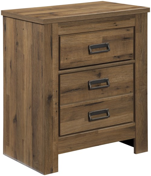 Signature Design by Ashley Cinrey Two Drawer Night Stand with 2 USB Chargers