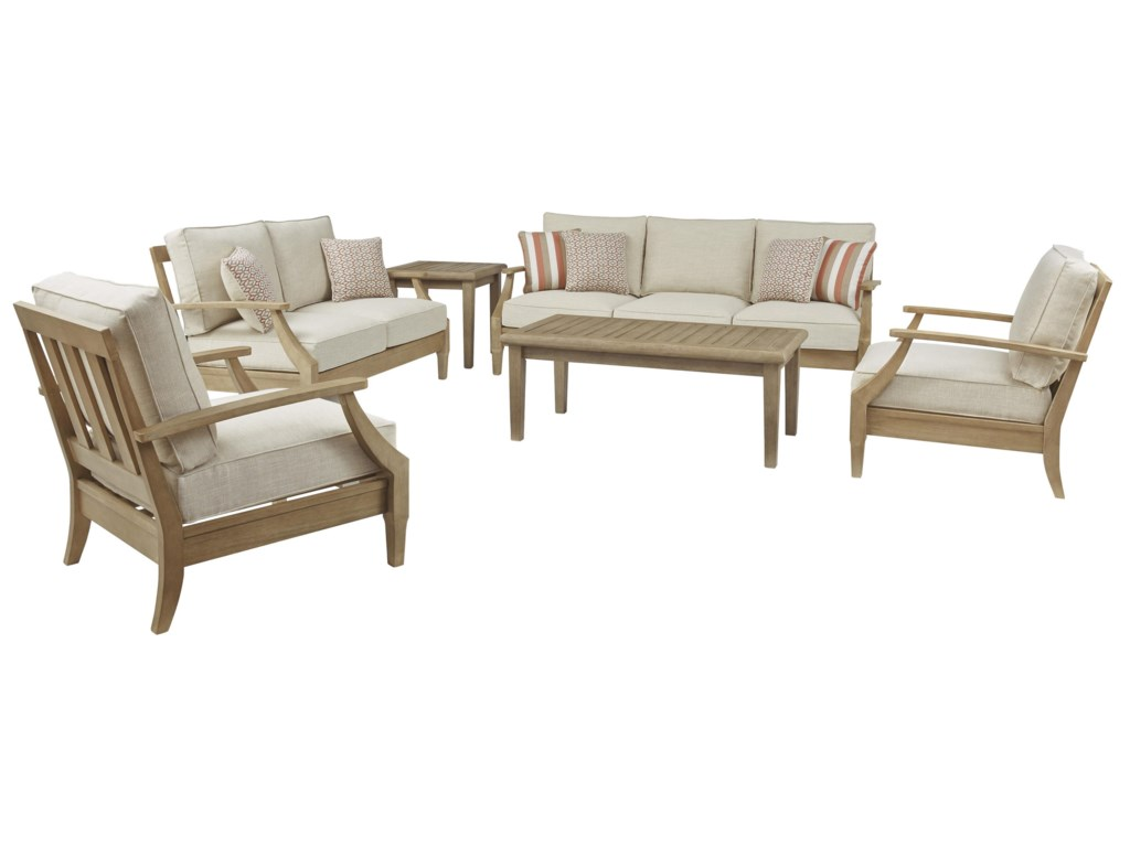Signature Design by Ashley Clare View4 PC Outdoor Conversation Set