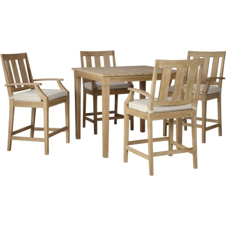 5 Piece Bar Table Set