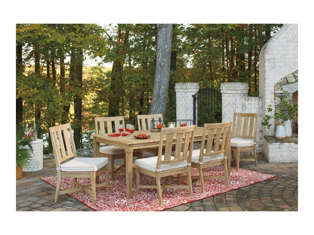 Signature Design by Ashley Antigua7 Piece Outdoor Dining Set