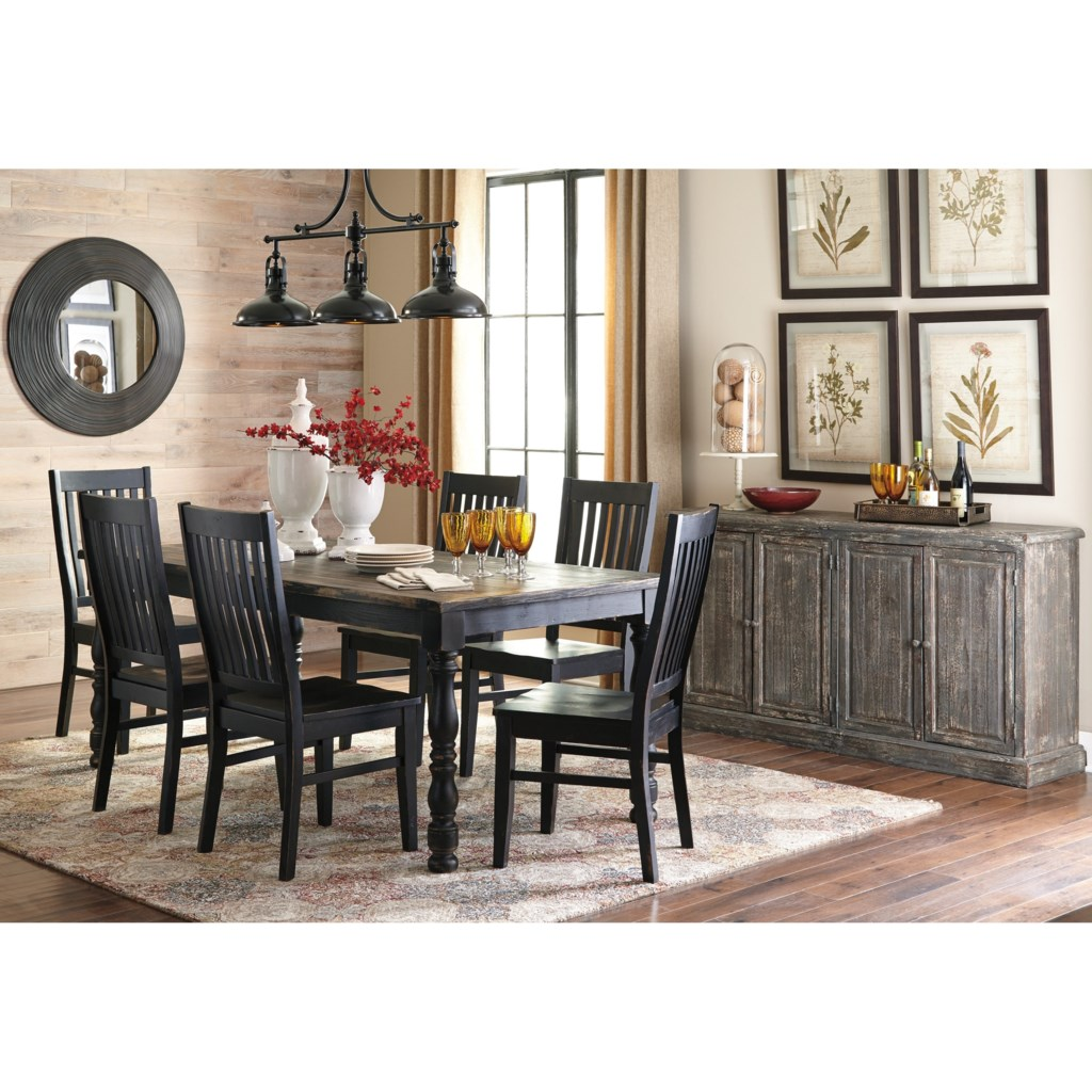 signature design by ashley clayco bay 7 piece rectangular dining