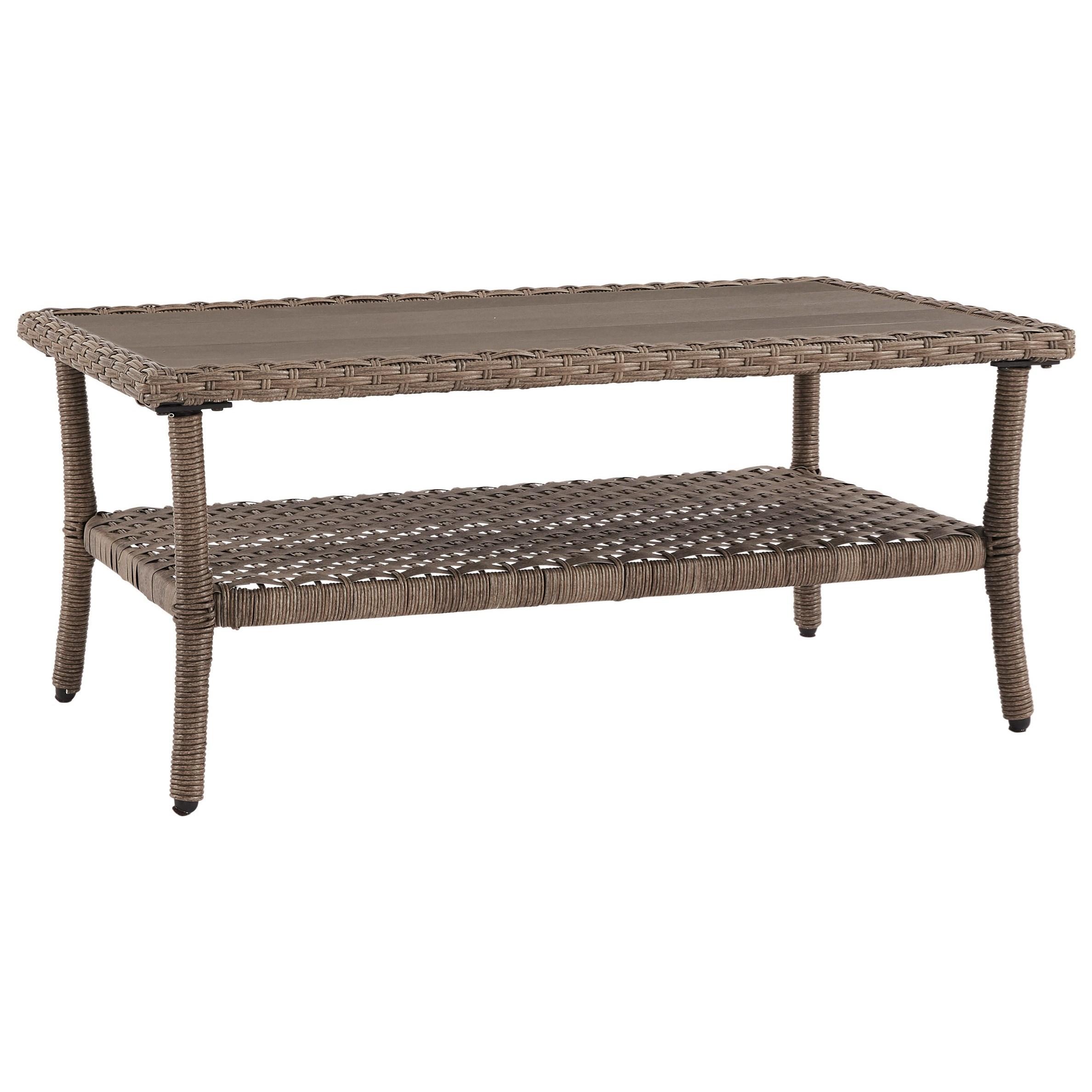Resin Wicker Rectangular Cocktail Table