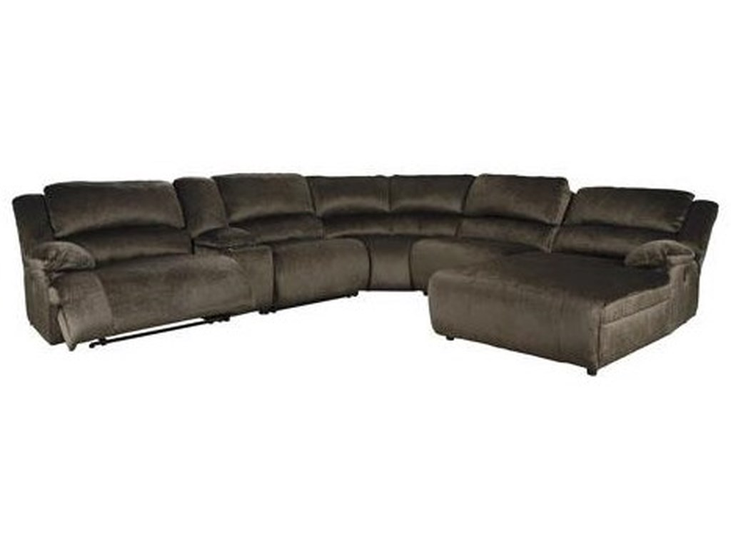 Signature Design by Ashley ClonmelPower Reclining Sectional with Chaise