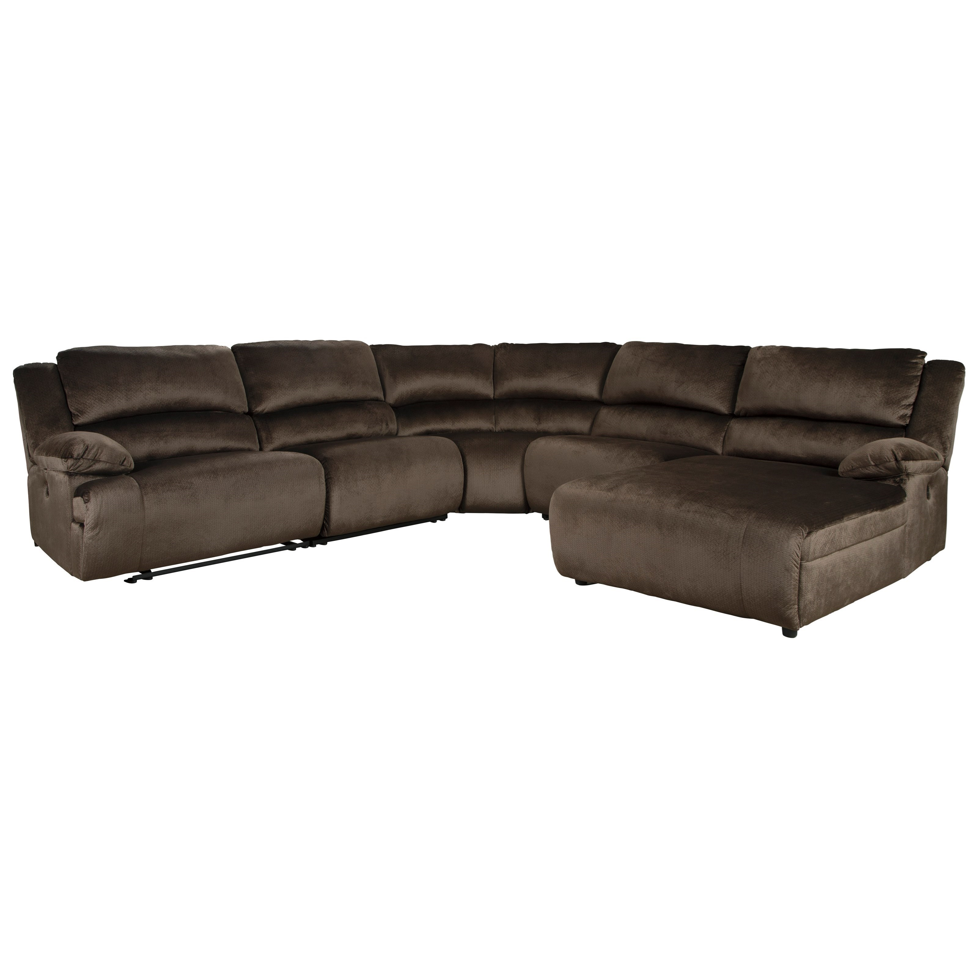 Power Reclining Sectional with Pressback Chaise