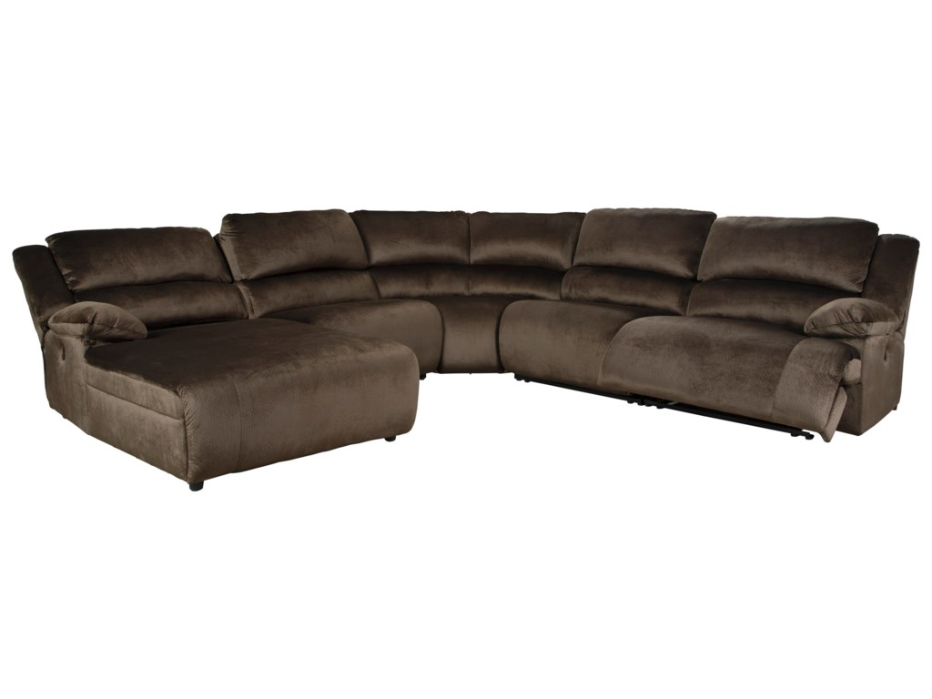 Trendz CullenReclining Sectional with Pressback Chaise