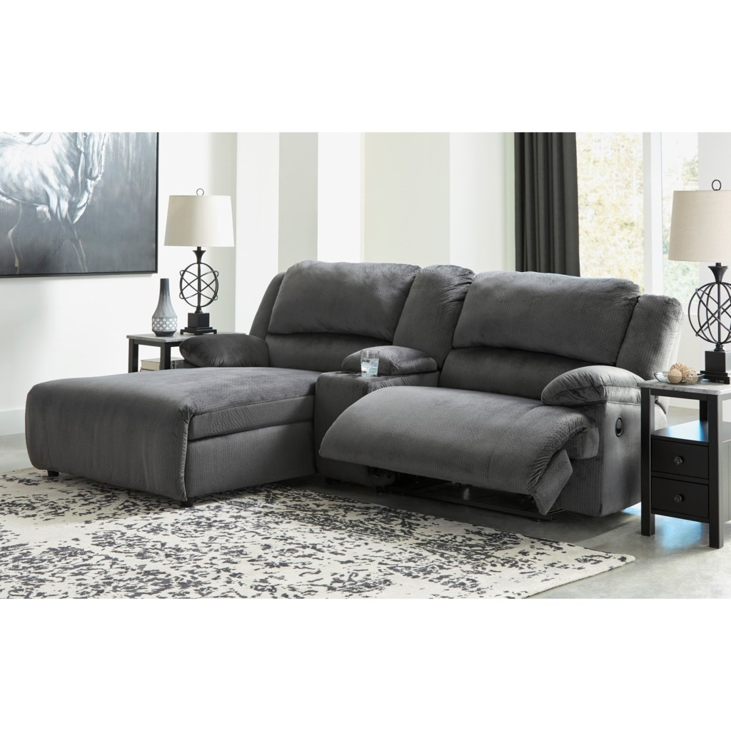 Signature Design By Ashley Clonmel Power Reclining Sectional W