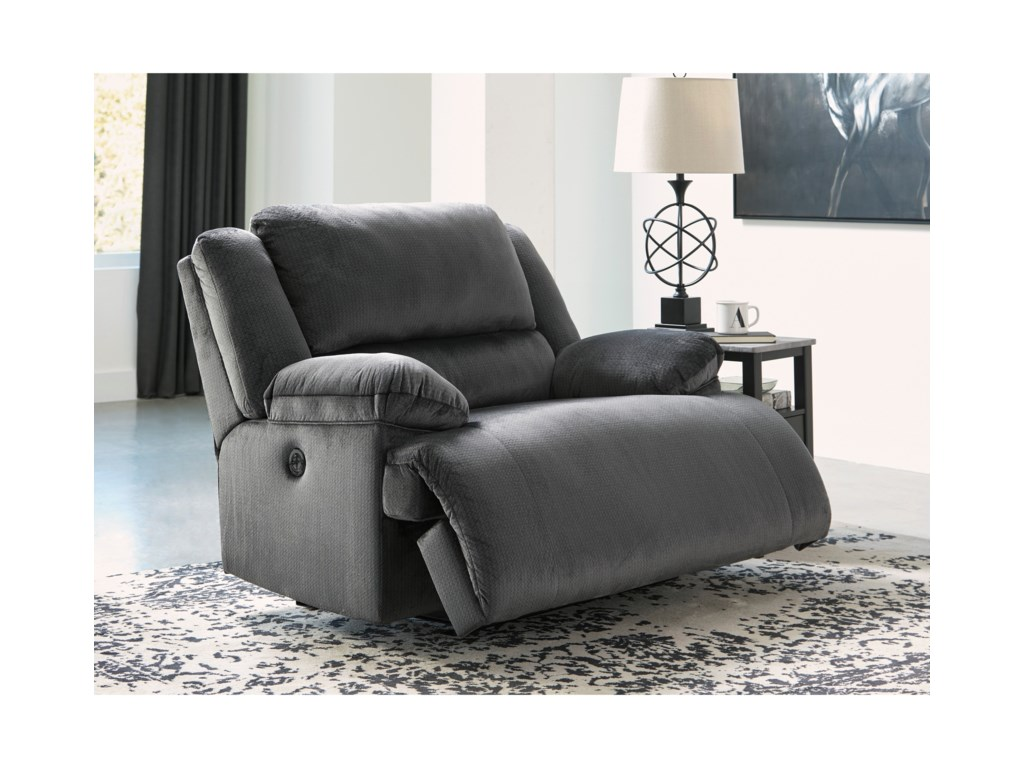 Signature Design by Ashley ClonmelZero Wall Wide Seat Recliner