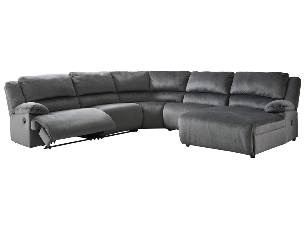 Signature Design by Ashley ClonmelPower Recl. Sectional with Pressback Chaise