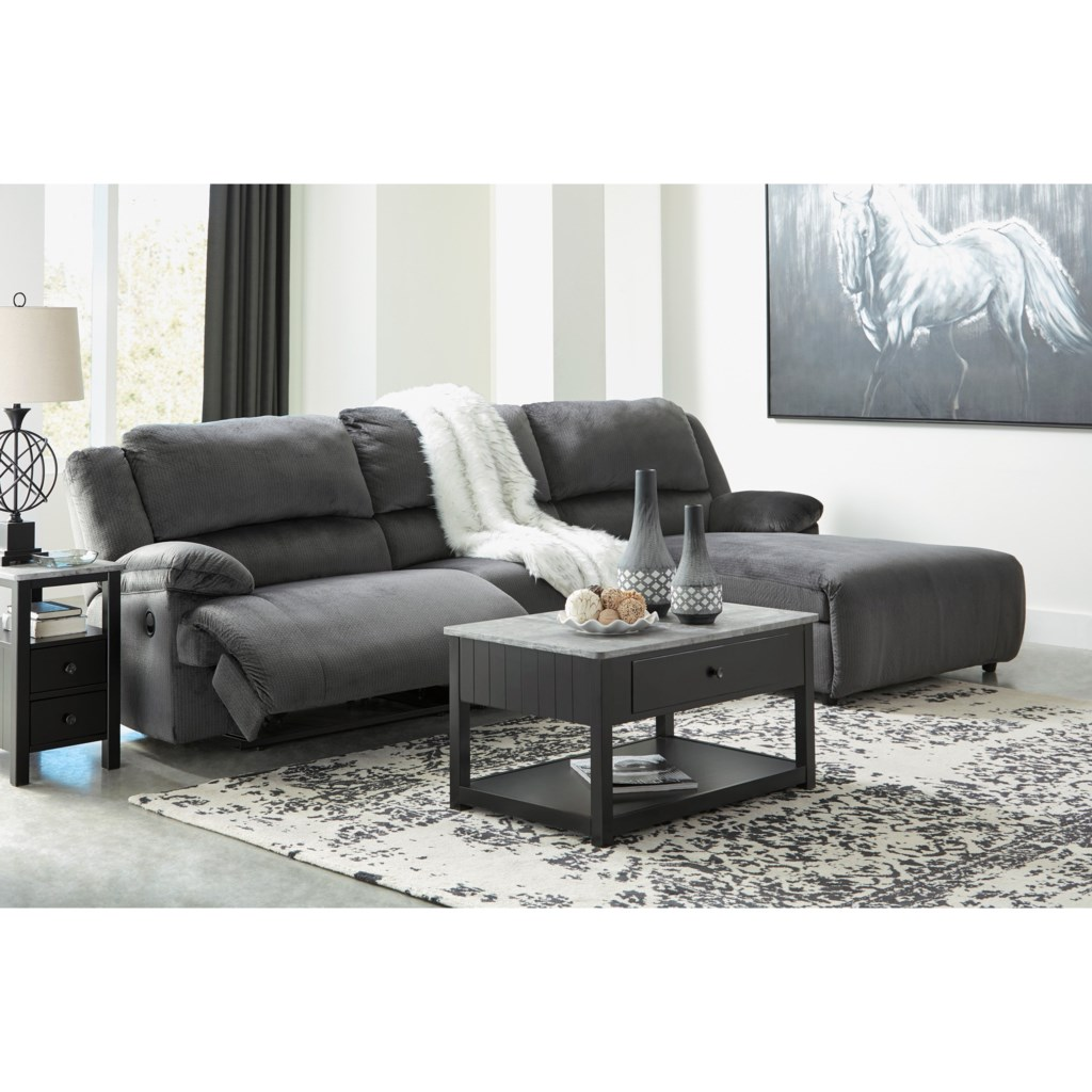 Signature Design By Ashley Clonmel Reclining Sectional With