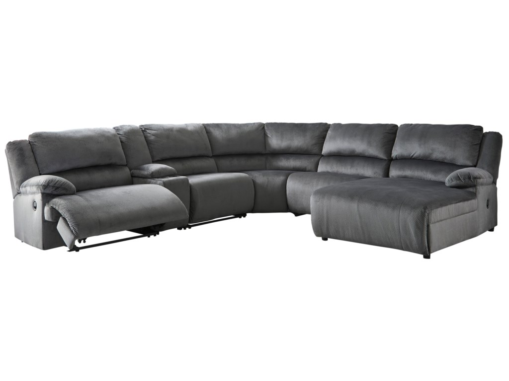 Signature Design by Ashley ClonmelPower Recl.Sectional with Chaise & Console