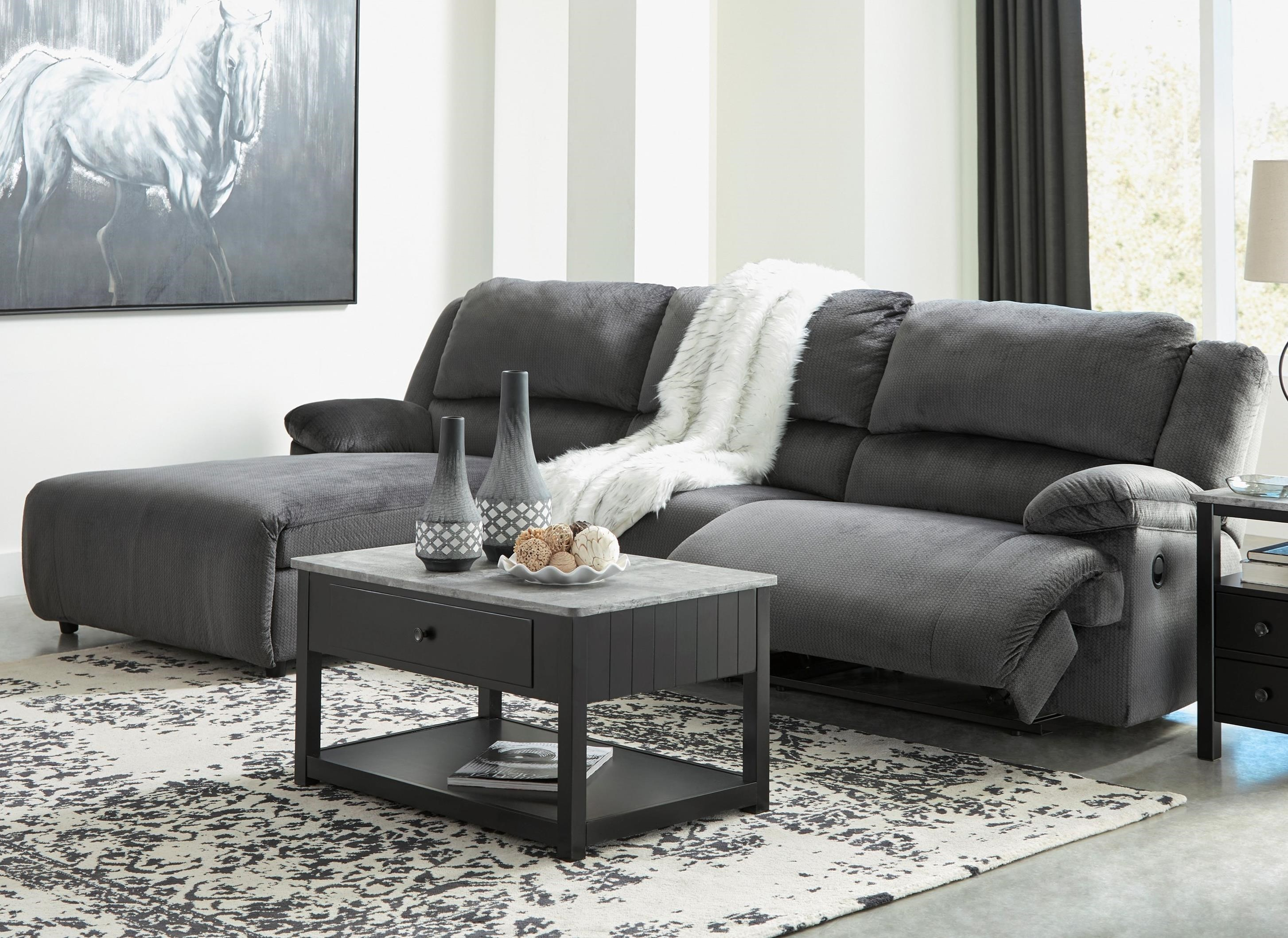 Cullen Reclining Sectional With Pressback Chaise | Ruby Gordon Home | Reclining  Sectional Sofas