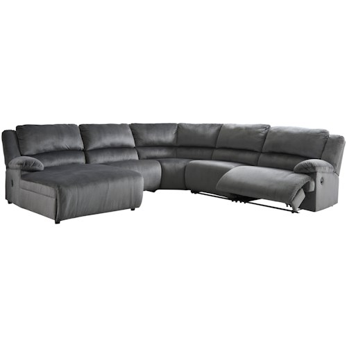 Signature Design by Ashley Clonmel Reclining Sectional with Pressback Chaise