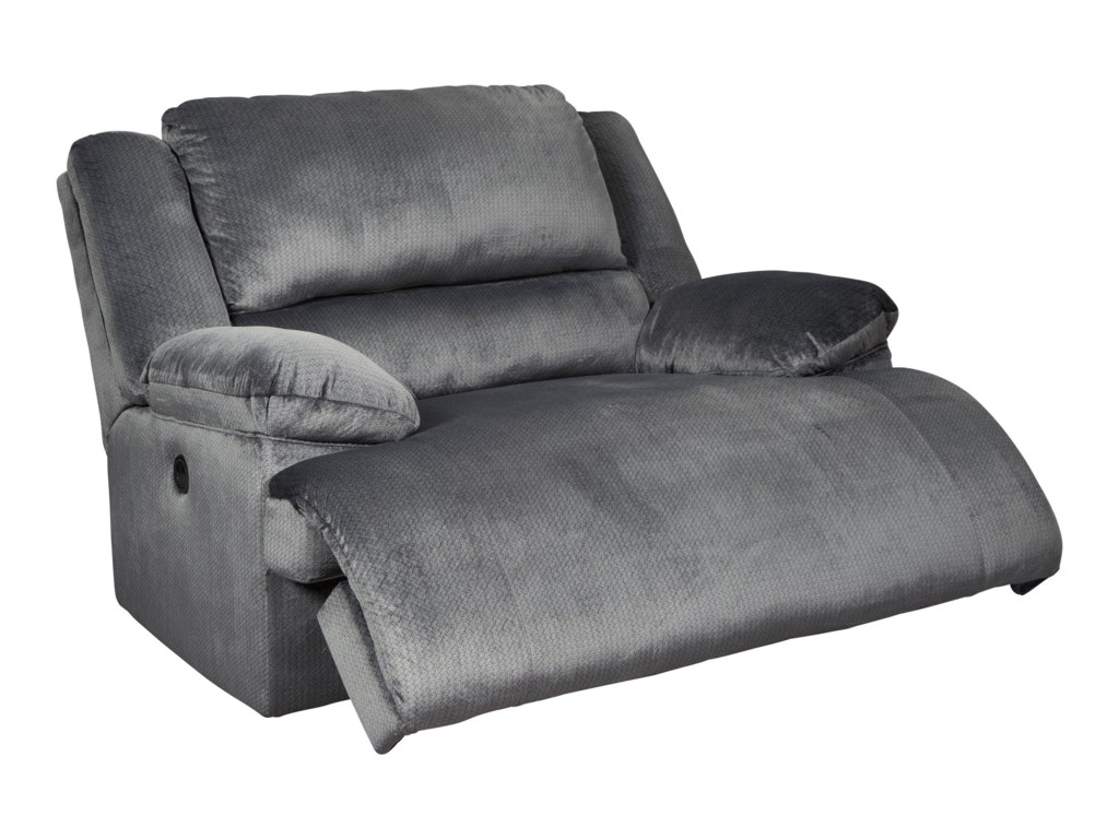 Signature Design by Ashley ClonmelZero Wall Power Wide Recliner