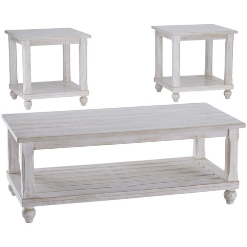 Signature Design by Ashley Cloudhurst Cottage Three Piece Occasional Table Set