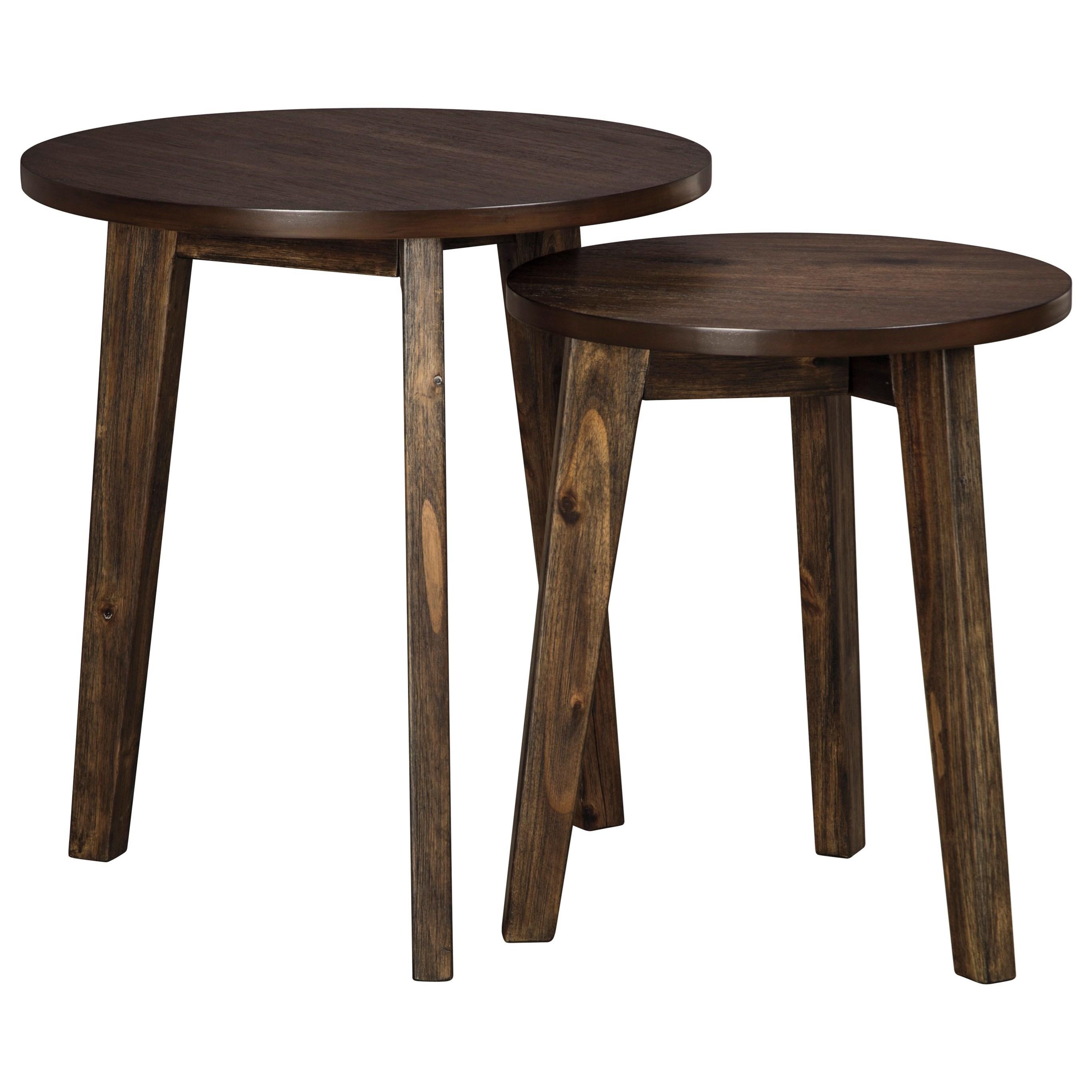 2-Piece Round Accent Table Set