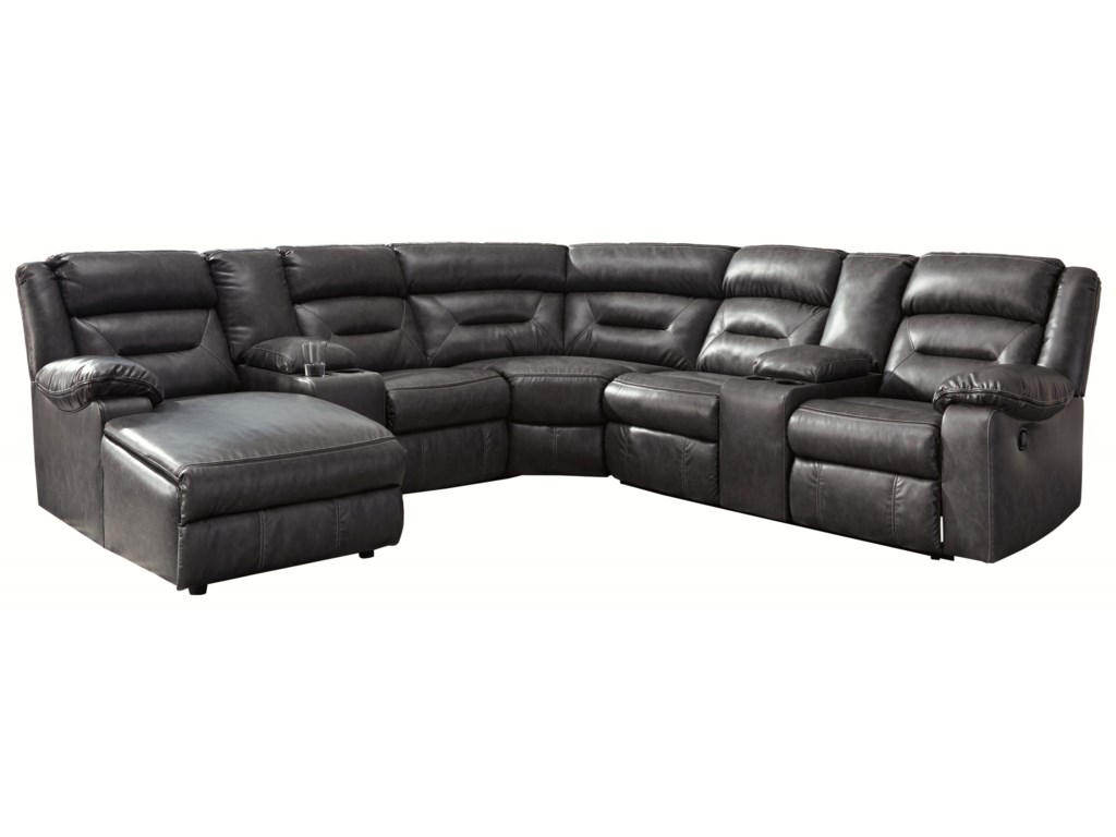 Signature Design by Ashley Coahoma 7-Piece Sectional with ...