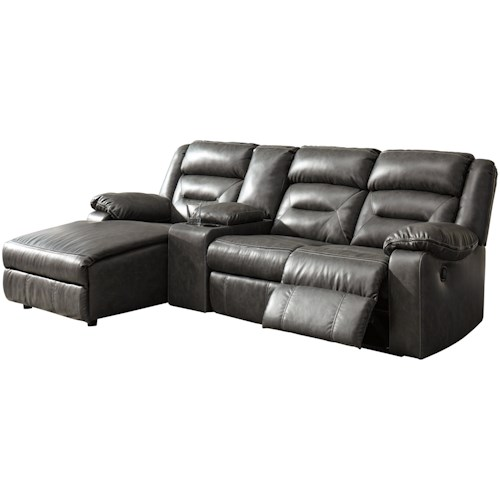 Signature Design By Ashley Coahoma Four Piece Sectional Sofa With