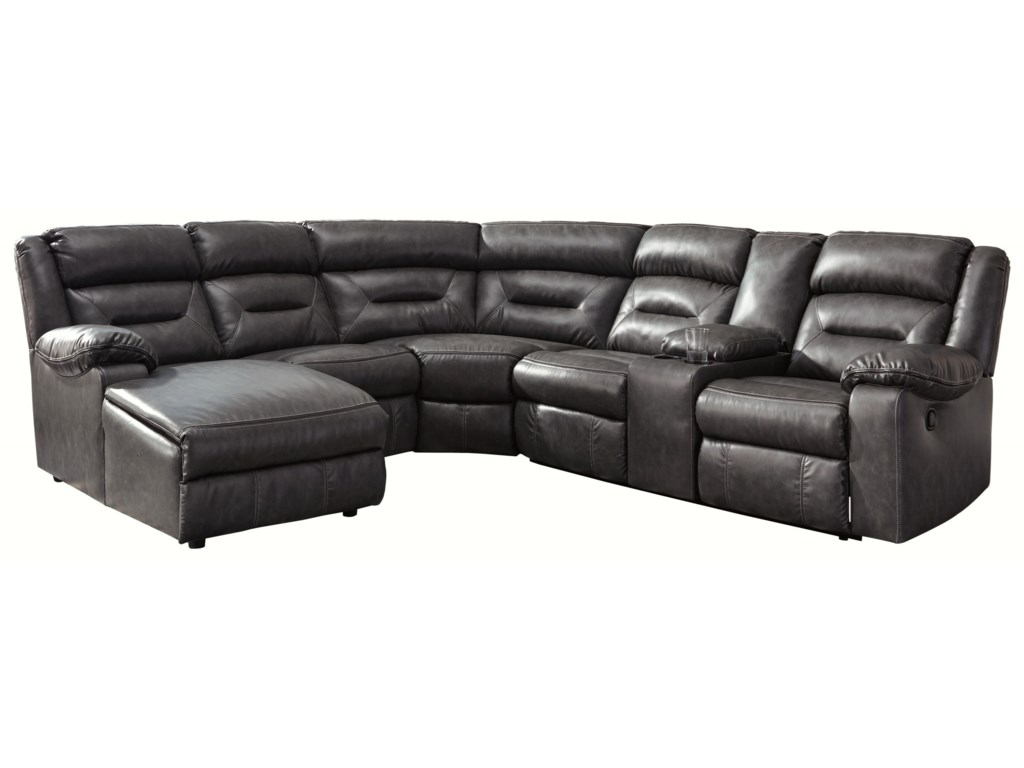 Calvin 6-Piece Sectional with Storage Console and Chaise by Trendz at Ruby  Gordon Home