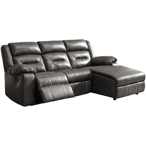 Signature Design by Ashley Coahoma Three Piece Sectional Sofa with Chaise