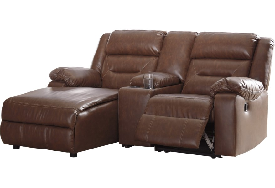 Coahoma 3-Piece Sectional Sofa with Chaise and Storage Console by Signature  Design by Ashley at Sparks HomeStore
